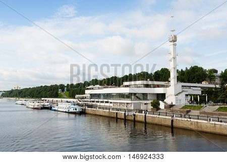 River Station on the banks of the Volga River in the city of Yaroslavl