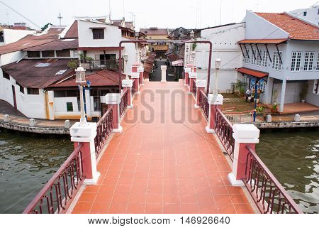Old Part Of Town. Melaka City, Malaysia