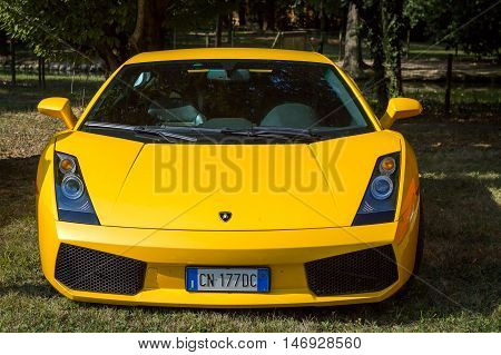 Mogliano VenetoItaly Sept 112016:Photo of a Lamborghini Gallardo SL Superleggera at meeting Top Selection 2016. The Lamborghini Gallardo is a sports supercar built by Lamborghini from 2003 to 2013.
