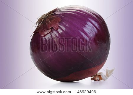 Extreme close-up image of red onion all in focus