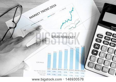 Financial Accounting Sales Forecast Graphs Analysis,digital Effect For Background