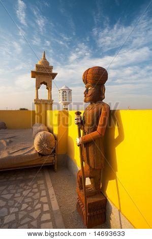 Raj Servant Statue