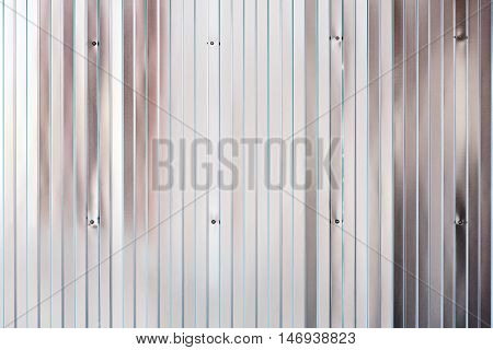 Shining Texture Of Corrugated Galvanized Metal Wall