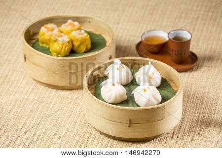 Chinese Dim Sum with tea - Chinese Cuisine