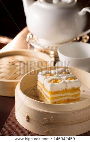 Chinese Dim Sum with Chinese Tea Set