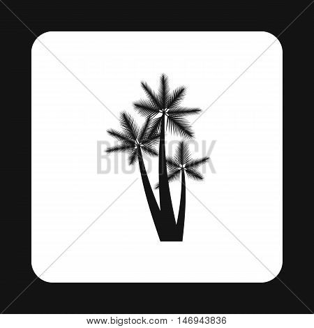 Palm trees icon in simple style isolated on white background vector illustration