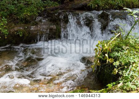 Small Stream In The Mountains
