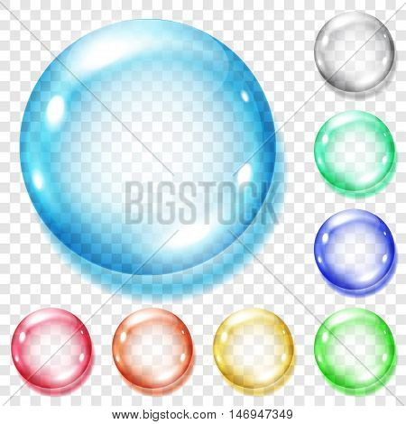 Set Of Transparent Colored Spheres