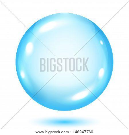Opaque Light Blue Sphere