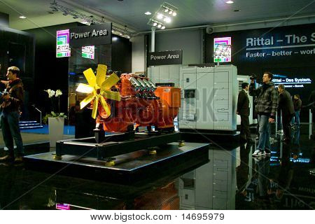 Hannover, Germany - March 5, 2011: Stand Of The Rittal In Cebit Computer Expo, Hannover, Germany. Ce