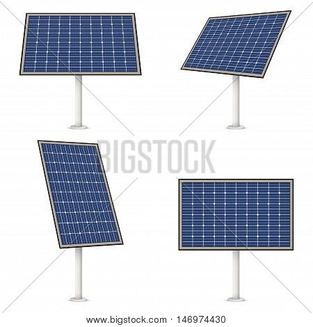 Solar panel vector isolated on a white background
