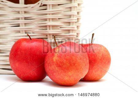 fresh apple isolated on white - bio food