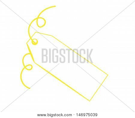 Blank Copy Space Gift Present Yellow Tag