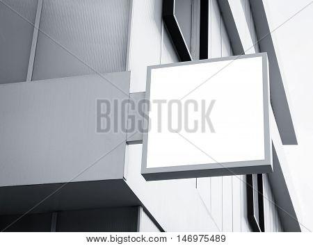 Signboard shop Mock up Square sign Shop display exterior