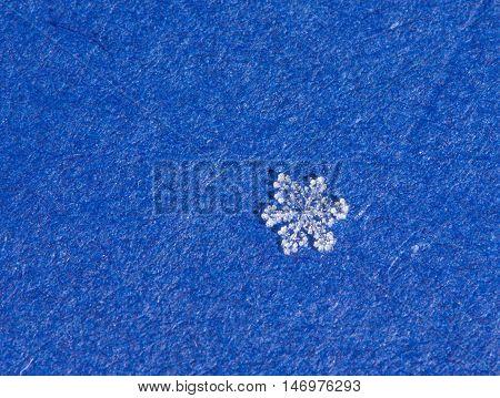 super macro shot of natural sparkle snow flakes