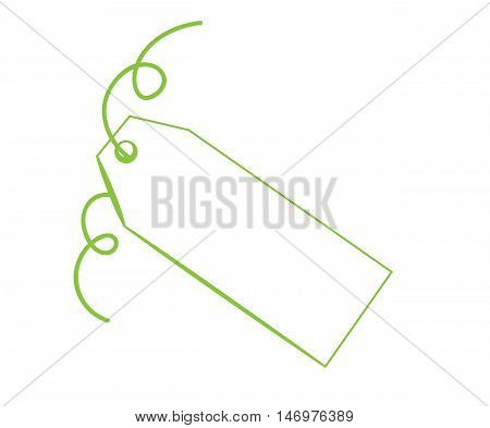 Blank Copy Space Gift Present Green Tag