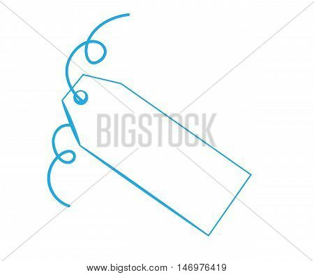 Blank Copy Space Gift Present Blue Tag