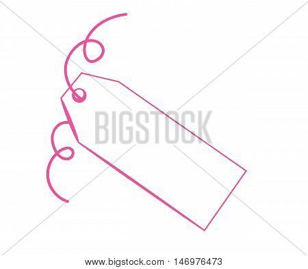 Blank Copy Space Gift Present Pink Tag
