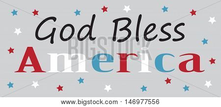 God Bless America Red White and Blue