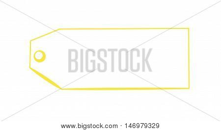 Blank Copy Space Yellow Tag Gift Present