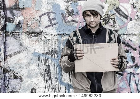 Desperate Homeless Man