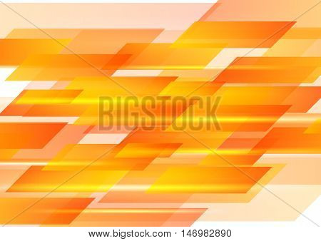 Hi-tech orange shapes abstract background. Vector graphic geometric design