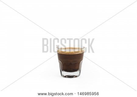 Tasty Espresso Coffee on Isolated on white background