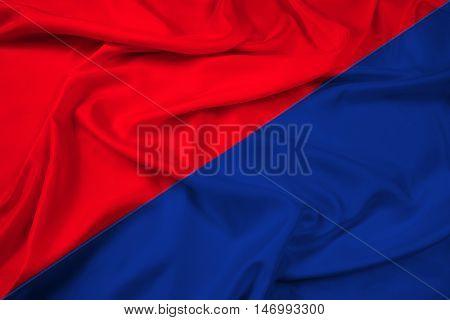 Waving Flag Of San Pedro De Riobamba, Ecuador