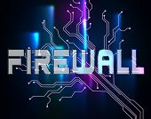 Firewall Word Means Protected Online And Safety poster