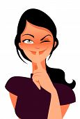 stock photo of shh  - woman asking to keep a secret vector illustration - JPG