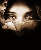 Sensual Eyes Of Mysterious Woman