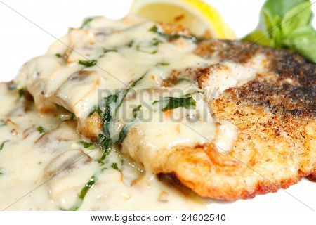 Grilled Steak Catfish Under Olive Sauce