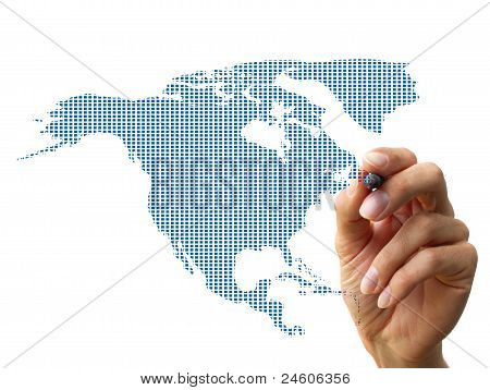 Hand Drawing Northamerica