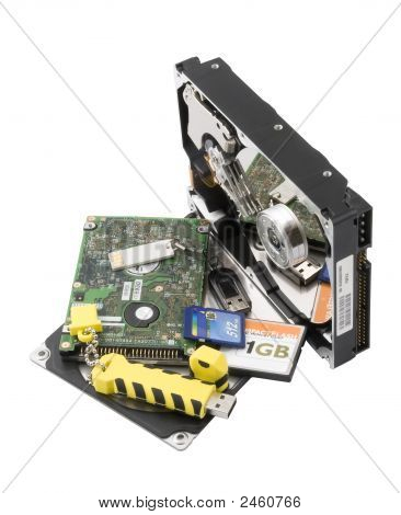 Two Hard Disk And Flash-Card