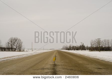 Winter Prairie Highway