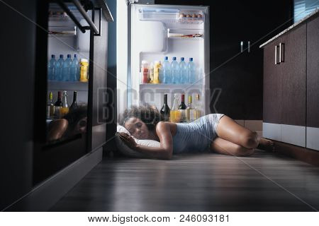 Young Hispanic Woman Suffering For