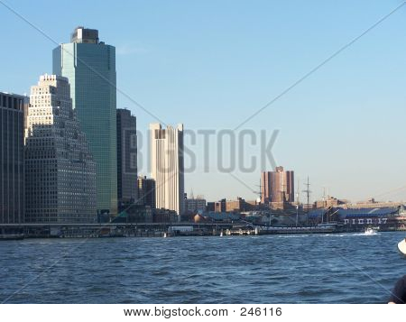 South Street Seaport From Water