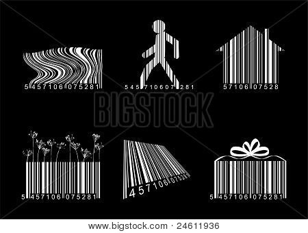 Barcodes Over Black