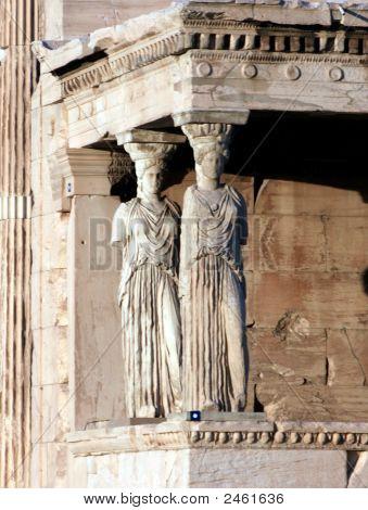 Athens, Greece - Caryatids At The Acropolis