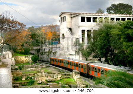 Athens, Greece - Metro And Agora