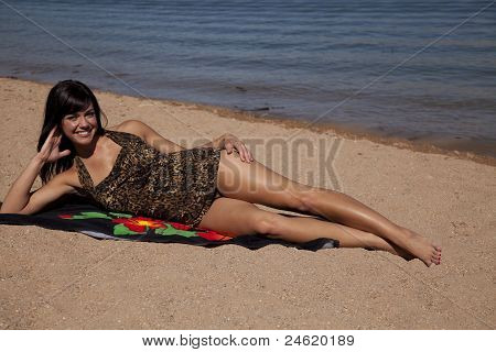 Relax On Beach Towel