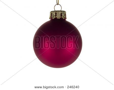 Red Christmas Ornament Isolated