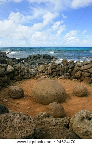Magnetic Rock at Easter Island