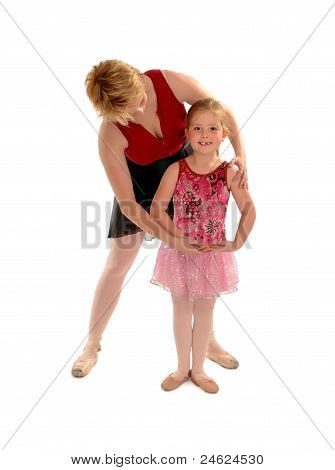 Ballet Mistress Teaching Girl Child Student