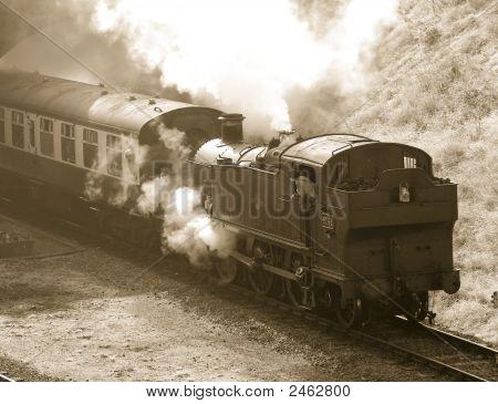 Steam Train In Sepia49