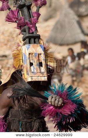 Satibe Mask And The Dogon Dance, Mali.