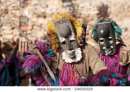 Mask And The Dogon Dance, Mali.