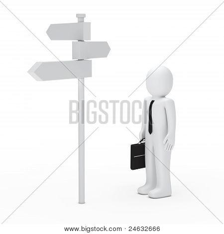 Business Man Way Sign