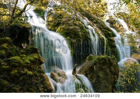 Waterfall Over Rocks