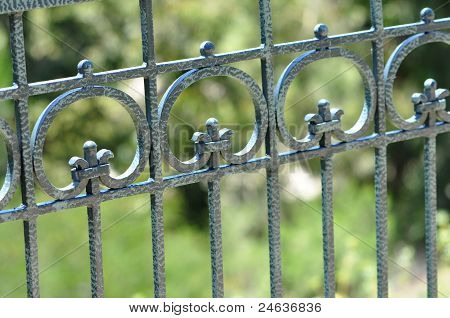 Blue Iron Fence